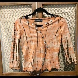 Talk Of The Walk Snake Skin Print Top Size small.